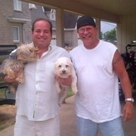 Wayne Dolcefino from Channel 13 KTRH Houston with Louis & Max with Jack Richards