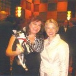 Tuco, Fiona and Mayor Annise Parker of Houston at the annual Celebrity Paws CAP Gala