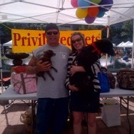 Jack Richards & Casey Curry Channel 13 KTRH Meteorologist at the Pet Fair