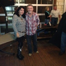 Fiona Richards with Larry Gatlin